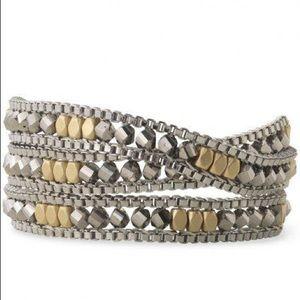 Stella & Dot mixed metal wrap bracelet